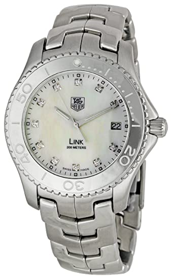 05776520308 TAG Heuer Men s WJ1114BA0575 Link Mother-Of-Pearl Dial Watch  Tag Heuer   Amazon.ca  Watches