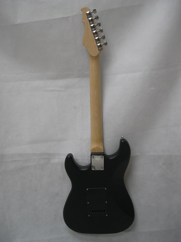 MSA ST5BM - Guitarra eléctrica, color negro mate, con cuerpo de madera maciza, Vision Sound, pastilla negra + cable - ST5BM: Amazon.es: Instrumentos ...