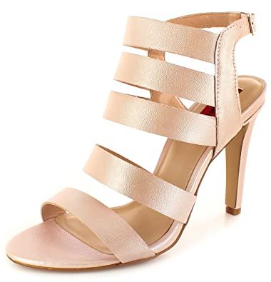59bc2cbd392a London Rebel Ladies Womens Pink Abby Open Toe Gladiator Sandals. - Pale Pink  -