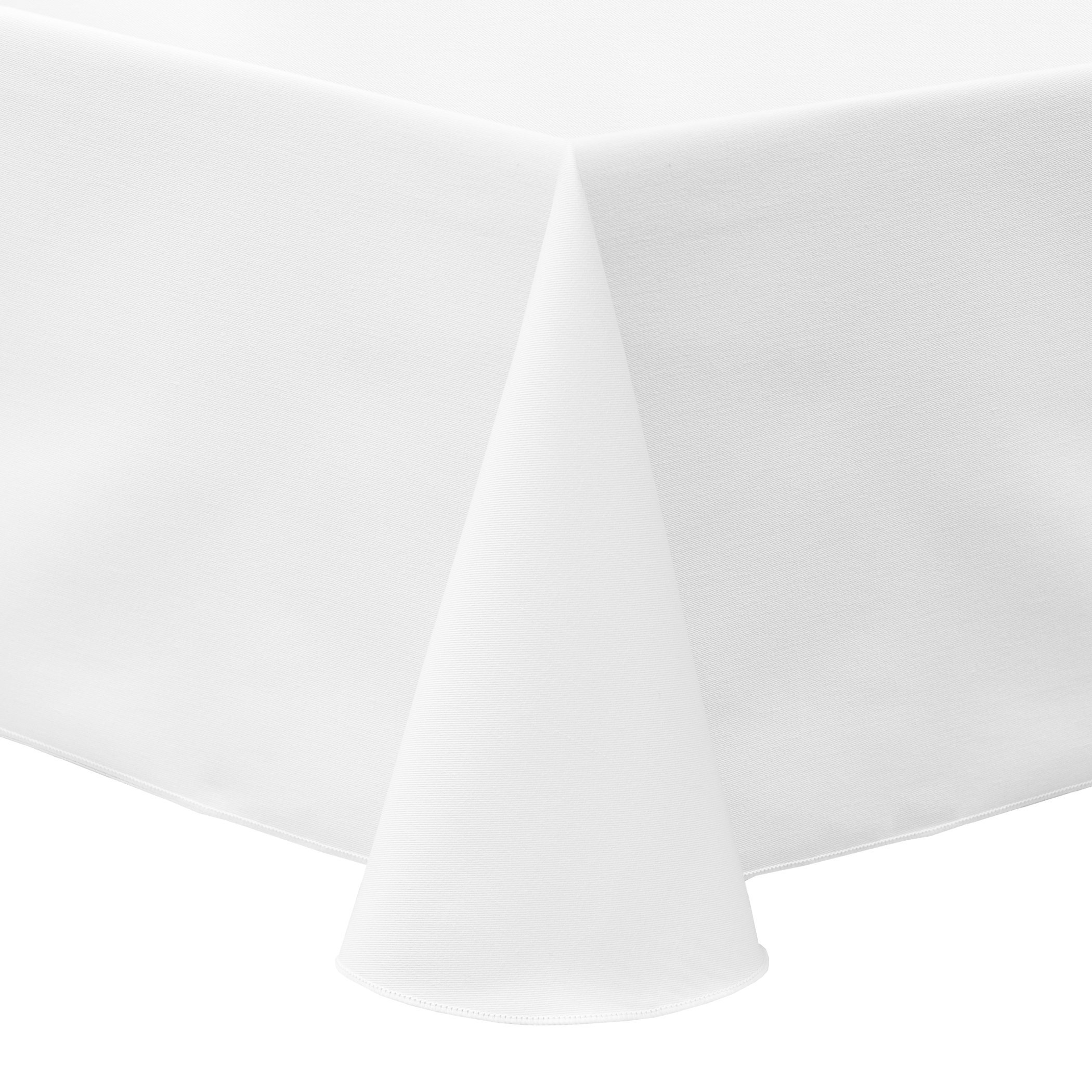 Ultimate Textile (2 Pack) Poly-cotton Twill 90 x 132-Inch Rectangular Tablecloth - for Restaurant and Catering, Hotel or Home Dining use, White