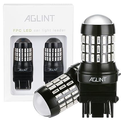 aglint 2pcs 4014 LED para luz de freno de coche bombilla 12 V 24 V 520