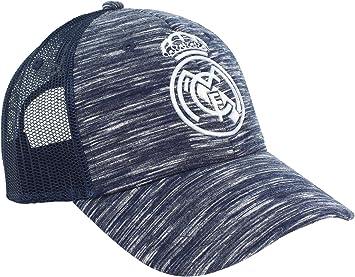 Gorra Oficial Real Madrid CF - Azul Jaspeado Rejilla - Tallaje ...