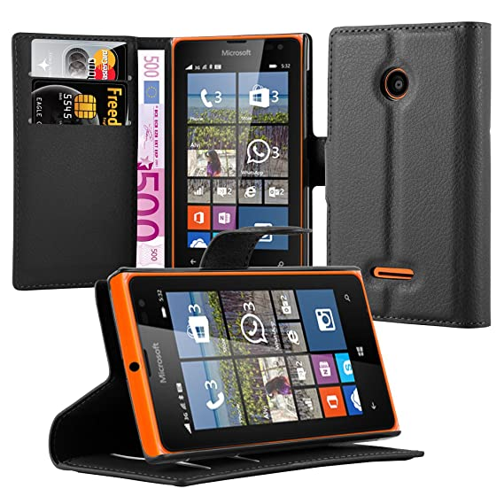 new style 0cdd7 46b95 Amazon.com: Cadorabo Book Case Works with Nokia Lumia 532 in Oxid ...