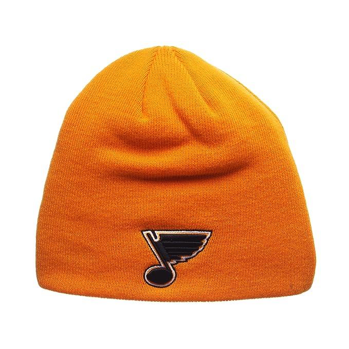 ee2c2d999b3 ZHATS St Louis Blues Blue Edge Skull Cap - NHL Cuffless Winter Knit Beanie  Toque Hat