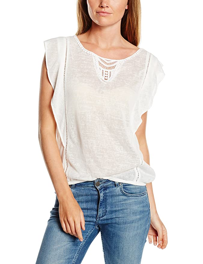 Clearance For Sale Womens Volantshirt with Crochet T-Shirt Tom Tailor Denim Cheap Low Price Fee Shipping ZygHFL3EU0