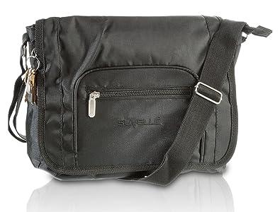 c8c390d4ac Suvelle Lightweight Flapper Travel Everyday Crossbody Bag Multi Pocket  Shoulder Handbag 9902