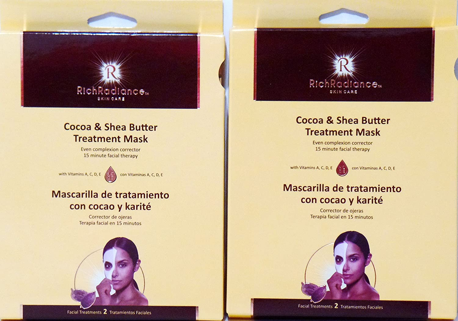 Amazon.com: Cocoa & Shea Butter Treatment Facial Mask by RichRadiance Skin Care (2 Pack): Beauty