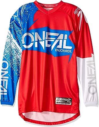 Camiseta de MX Oneal 2018 Element Burnout Rojo-blanco-azul: Amazon.es: Ropa y accesorios