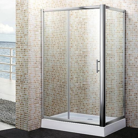 MondoDoccia® - Mampara de ducha de 3 hojas, de cristal ...