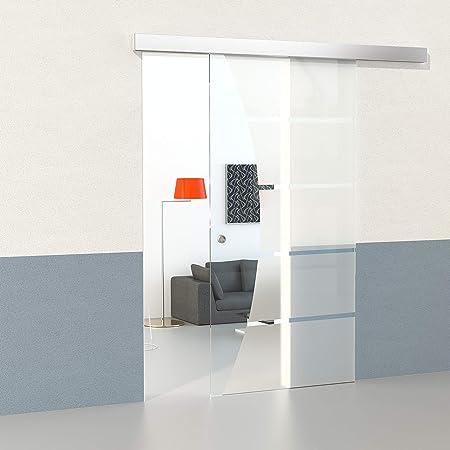 Duradoor 5 Stripes Set Of Safety Glass Sliding Door 2150mmx1050 Mm