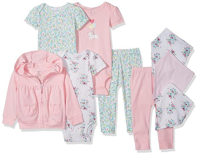 Carter s Baby - Set de Regalo básico para niña (9 Piezas)  Amazon ... 5a1b18d40a7e