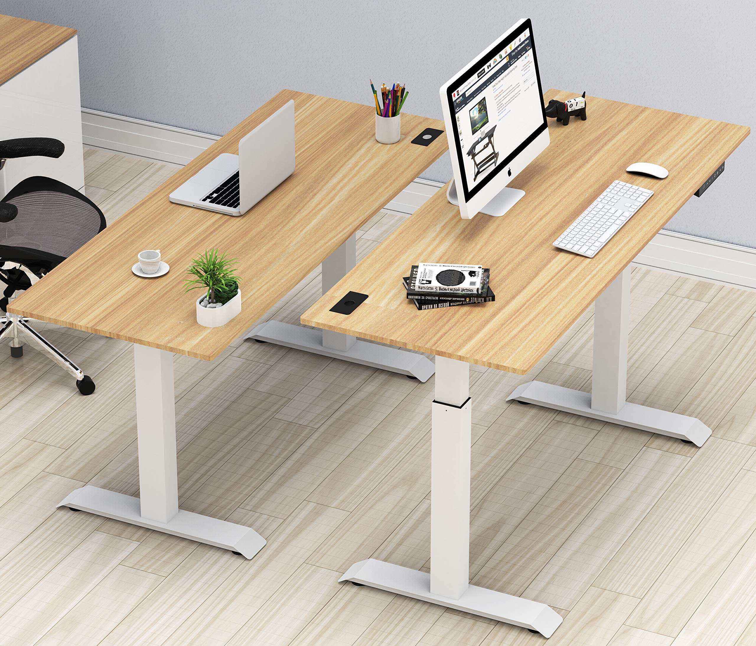 SHW Electric Height Adjustable Computer Desk, 48 X 24