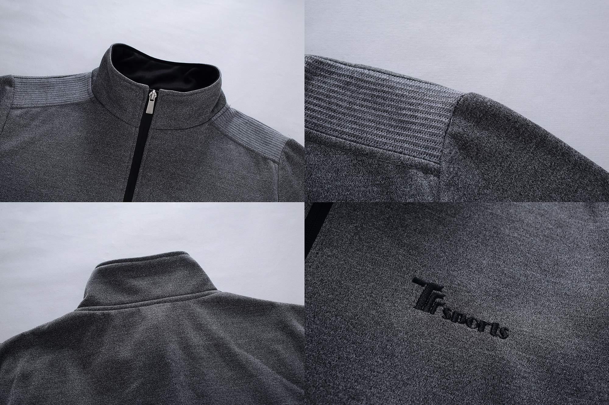 YSENTO Men's Activewear Fleece Tracksuits 2 Pieces Jacket & Pants Full Zip Jogging Sweatsuit Sportswear