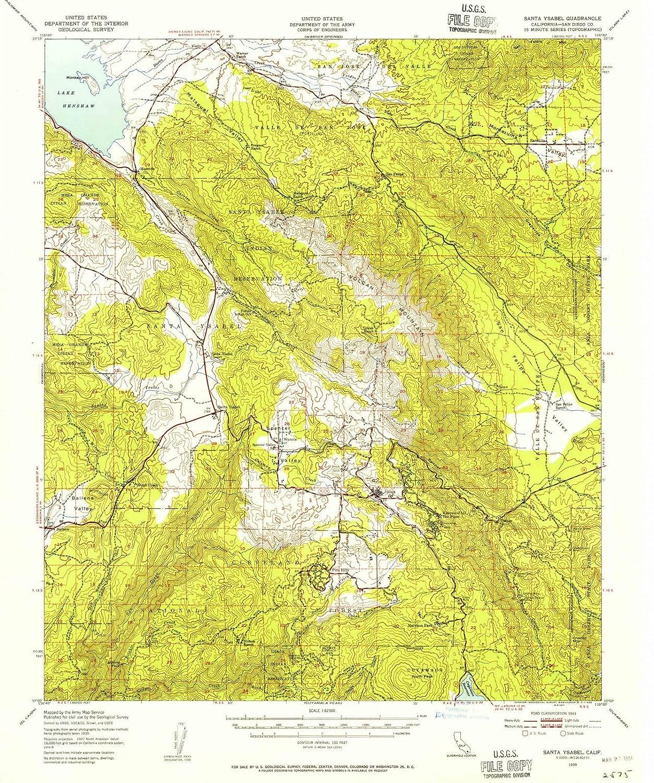 Amazon.com: California Maps - 1939 Santa Ysabel, CA USGS ... on michigan map, georgia map, california biomes, california history, california water, california absolute location, california mountains, delaware map, california cities, alabama map, alaska map, california beach, california nickname, california geography, wyoming map, illinois map, california trees, california county, california outline, california sketch, california region, kansas map, indiana map, hawaii map, california people, california counties, california delta, north carolina map, connecticut map, california highways, arkansas map, new york map, california climate,
