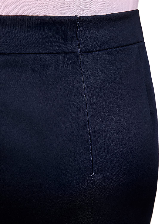 oodji Ultra Mujer Minifalda de Tejido de Algod/ón