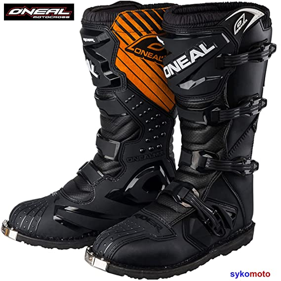 Botas Motocross Oneal Rider Boots Off Road Trail Track Enduro ATV Pit Carreras Zapatos Protector Deportes Negro (EU 42/UK 8)