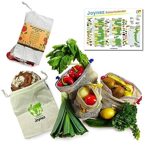 Joynez - Bolsa Reutilizable para Frutas y Verduras, algodón ...