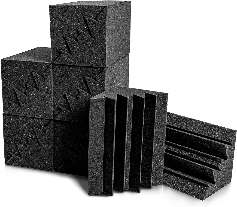 12 Pack Acoustic Foam Bass Trap Studio Foam 12