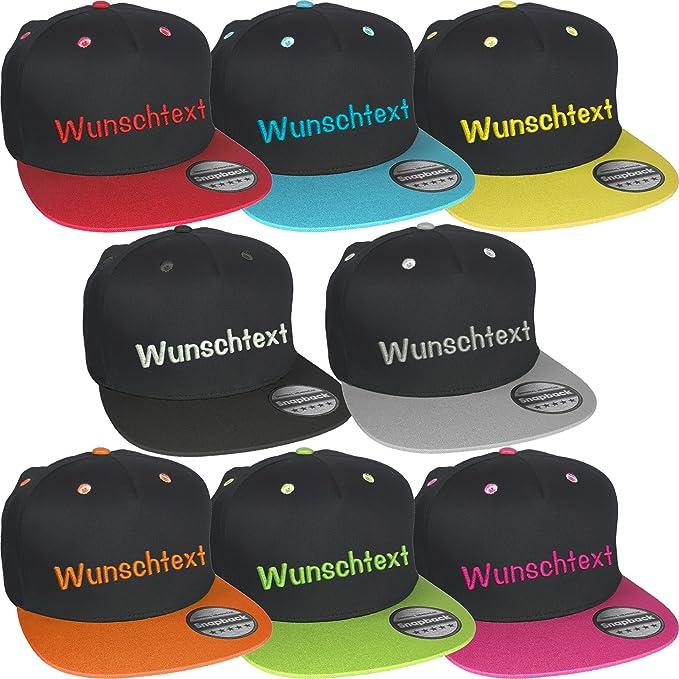 Wählen Sie für neueste außergewöhnliche Farbpalette Luxus Snapback Cap bestickt mit Wunschtext Text Name Stickerei Wunschstickerei  Mütze Basecap