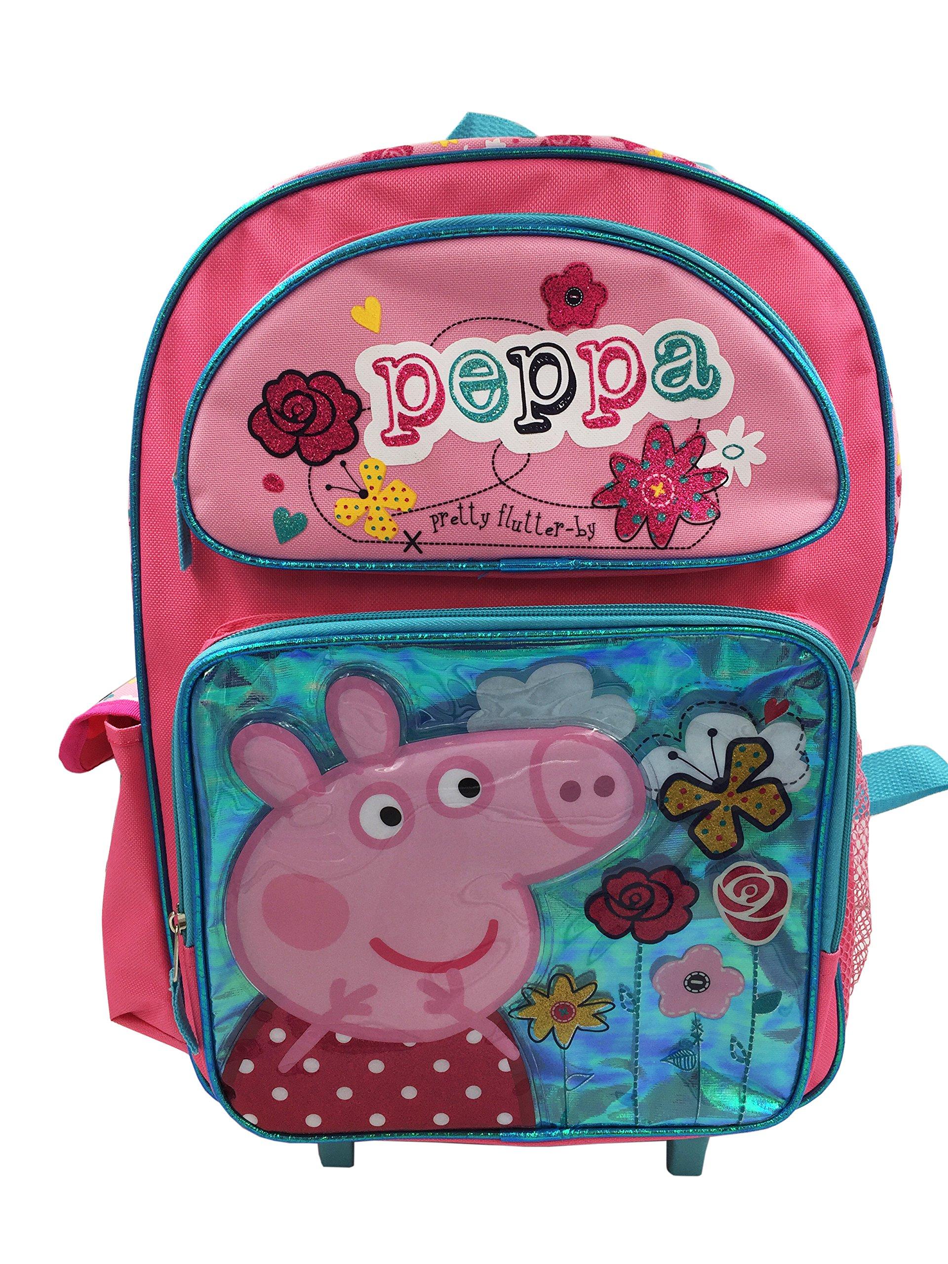 Peppa Pig 16'' Rolling Backpack