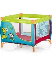 Hauck Sleep N Play SQ - Cuna parque ligero 3 piezas, 90 cm x 90 cm, cuna de viaje con base colchón y bolso de transporte, plegable y transporte fácil, multicolor