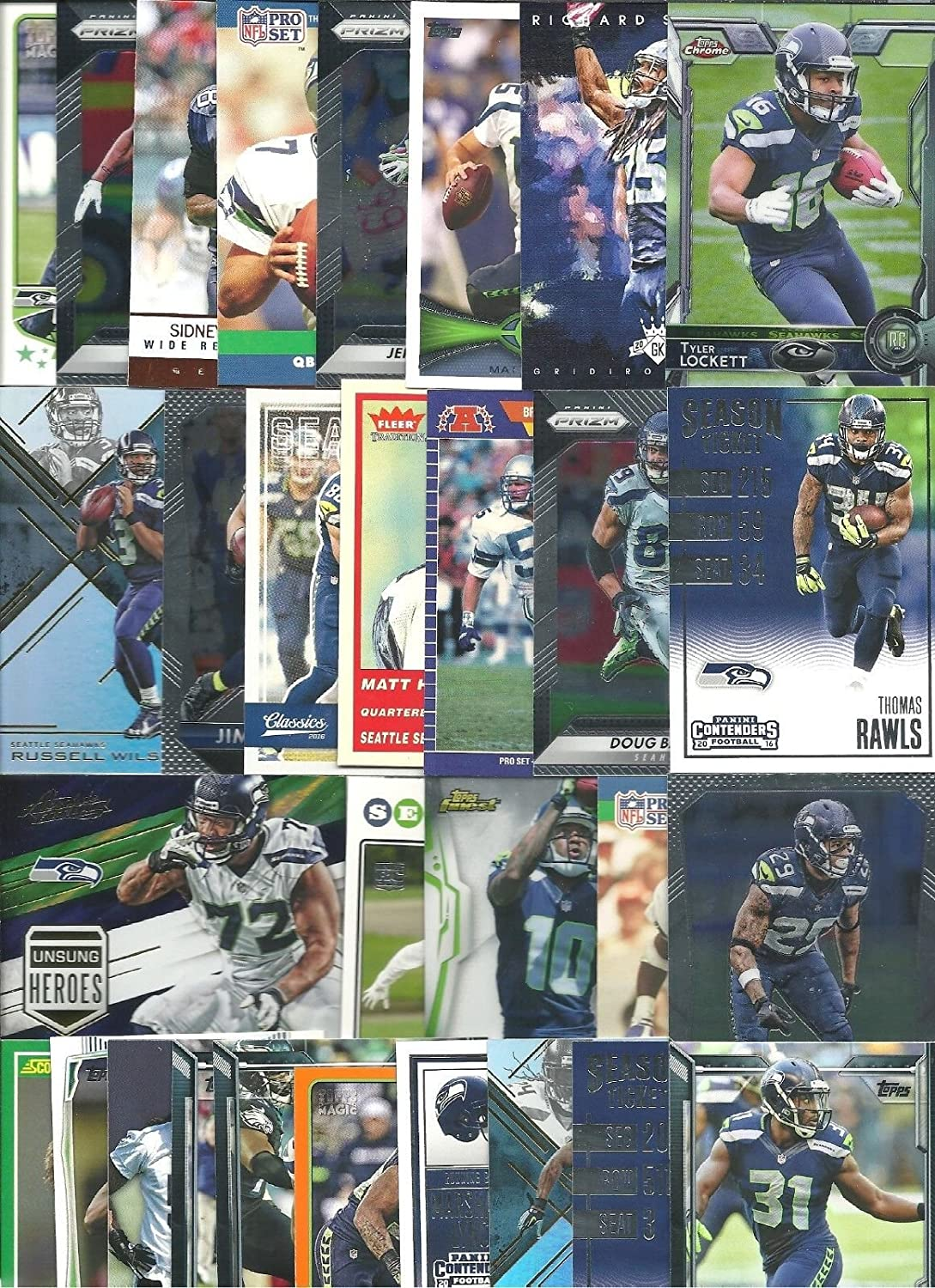 Amazon.com: HUGE 72 Piece Football Birthday Party SEATTLE SEAHAWKS Party Favor Set of 12 Seahawks Helmet Rings and 60 SEAHAWKS Players Cards Featuring Star ...