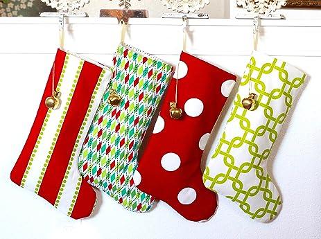 christmas stockings set of 4 for kids children girls 4 mixed style - Christmas Stockings For Kids