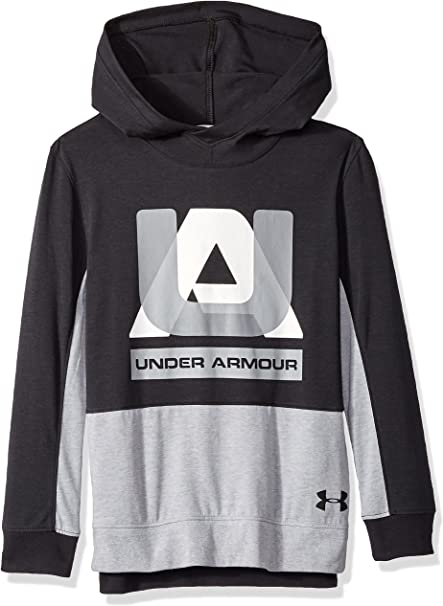 Under Armour Boys Armour Fleece Highlight Printed Hoodie Radio Red 001 Black