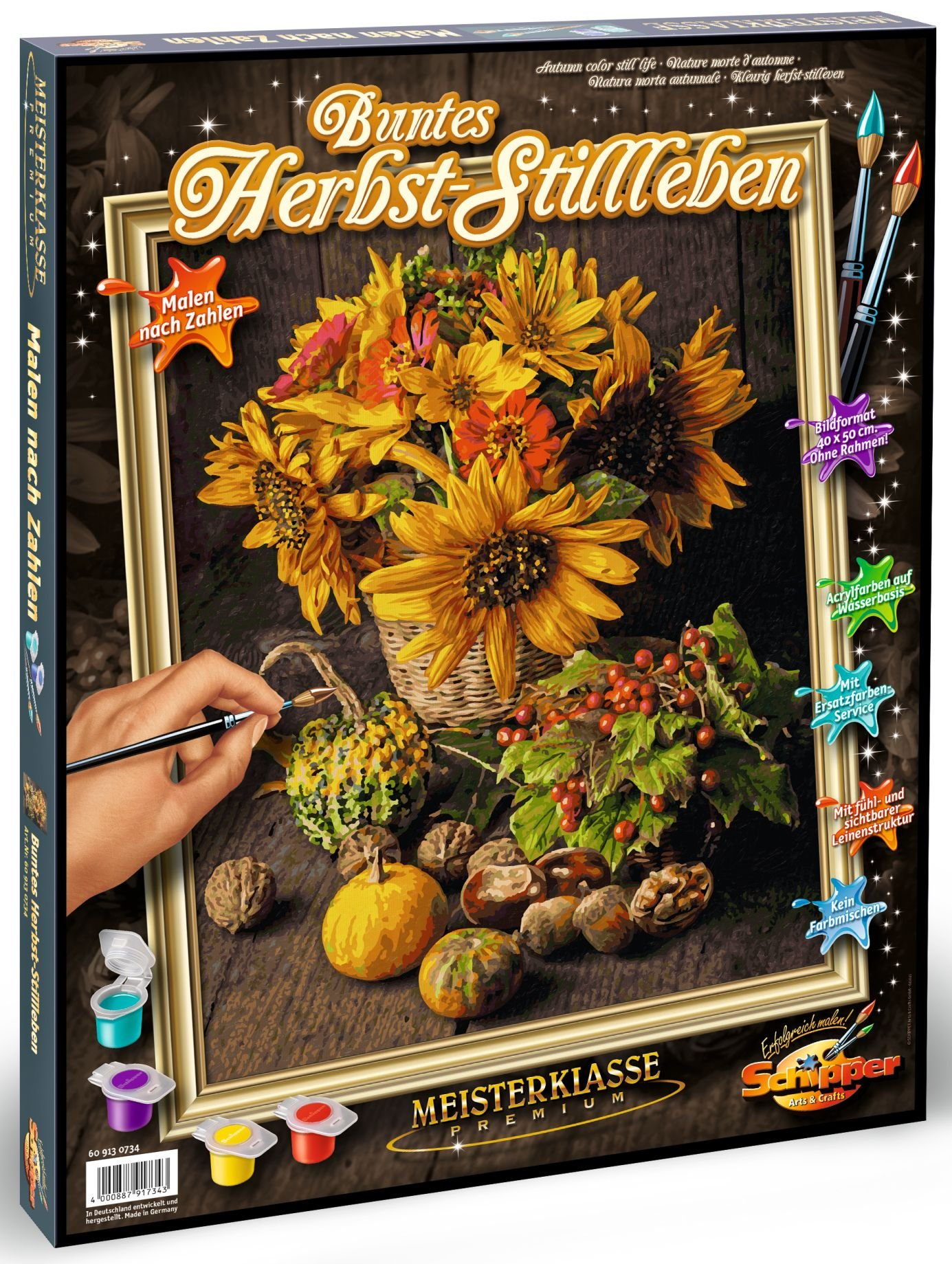 Schipper Adult Paint by Number: Still Life in Autumnal Colors Model Kit