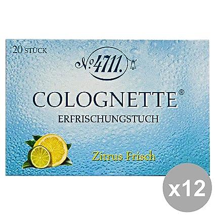 ACQUA DI COLONIA Set 12 4711 Limón Toallitas Milleusi X 20 Piezas