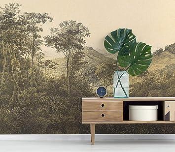 Retro Jungle Self Adhesive Wallpaper Wall Mural Jungle Forest Tree Vintage Wallpaper Removable Wallpaper Peel And Stick Wallpaper Amazon Co Uk Diy Tools