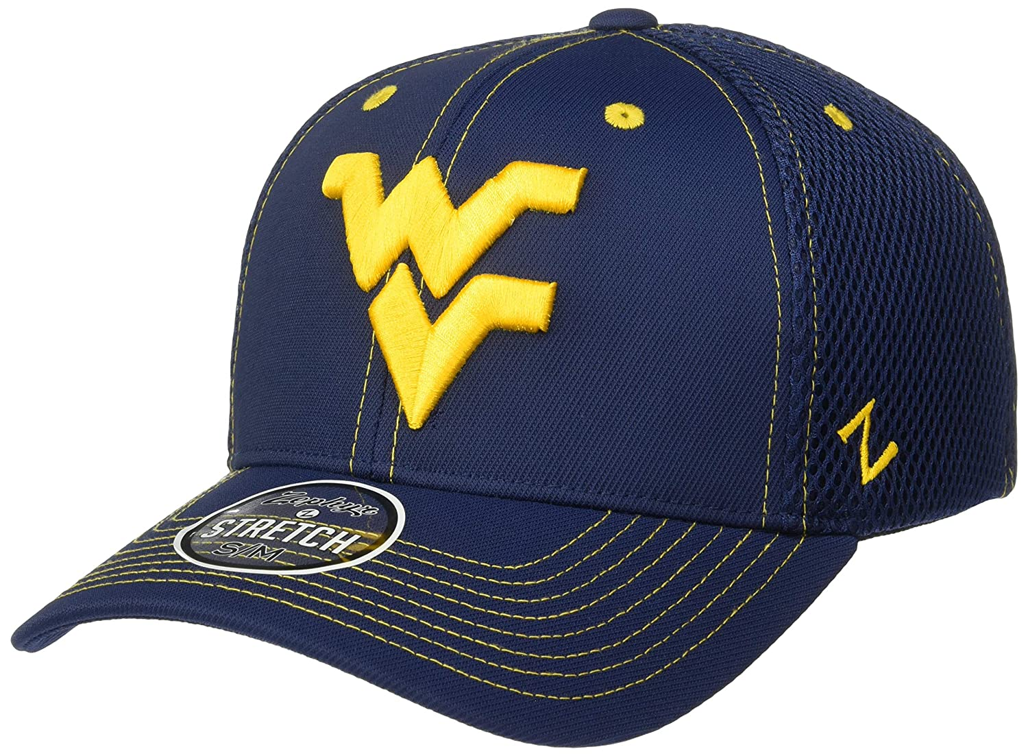 Primary Team Color Medium//Large NCAA Zephyr West Virginia Mountaineers Mens Pregame 2 Performance Hat
