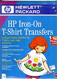Iron-On Transfers, 8-1/2 x 11, White, 10/Pack