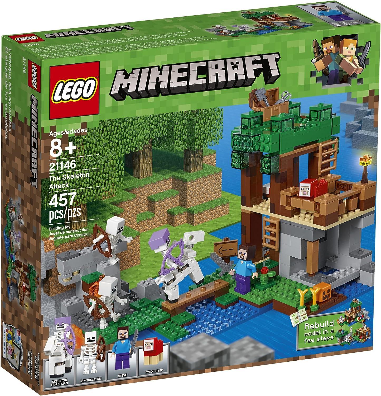 457 Piece LEGO Minecraft The Skeleton Attack 21146 Building Kit
