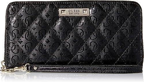 Guess Damen Tiggy Large Zip Around Wallet Geldbörse, schwarz