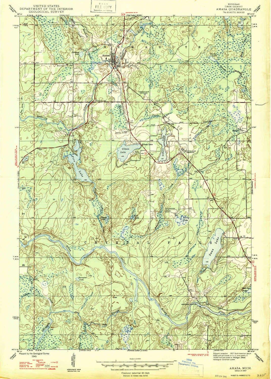 Amazon Com Yellowmaps Amasa Mi Topo Map 1 24000 Scale