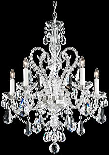 product image for Schonbek NV3905N-40A Swarovski Lighting Novielle Chandelier, Polished Silver