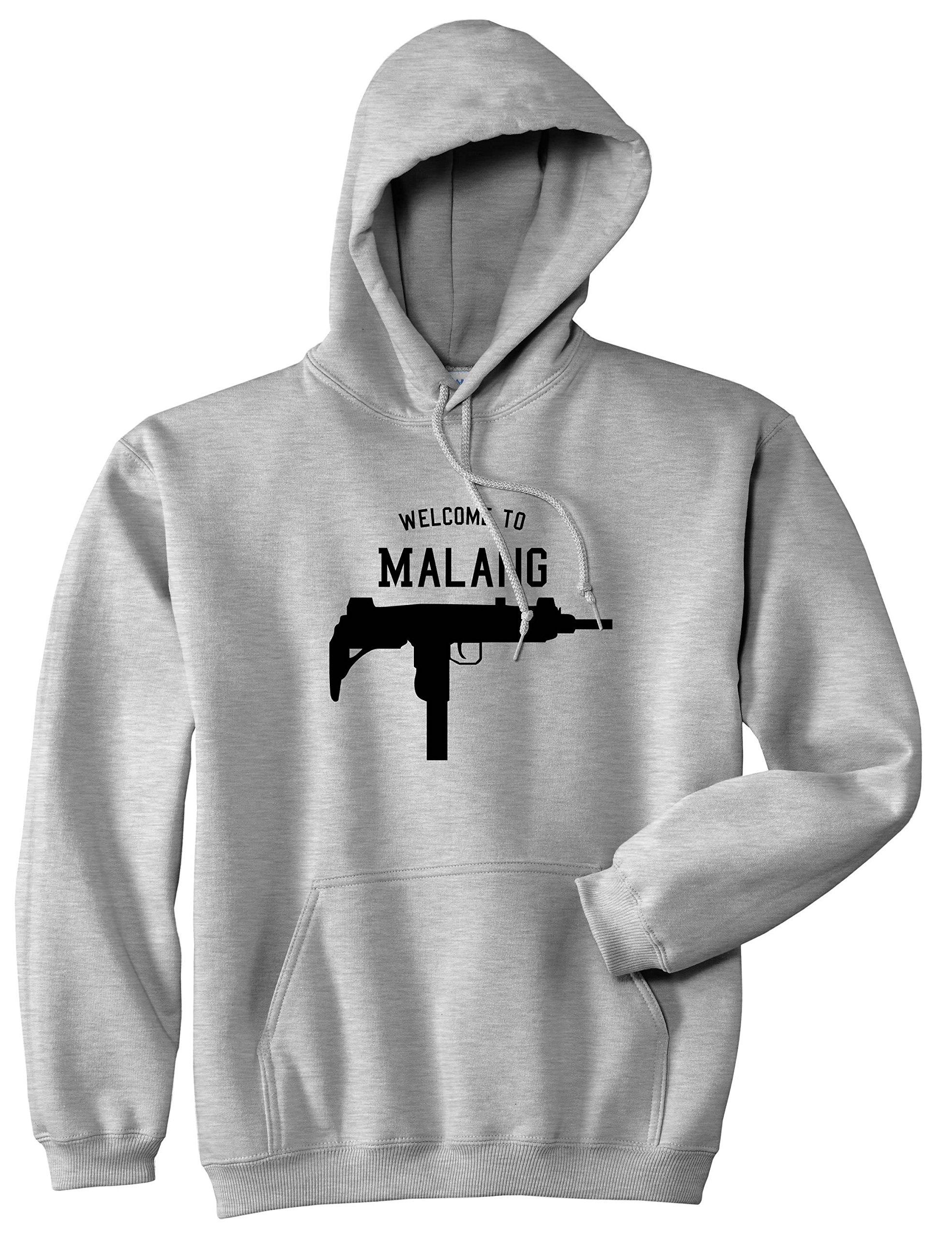 Welcome To Malang Uzi Machine Gun City Pullover Hoodie Hoody Small Grey Amazon Com Books