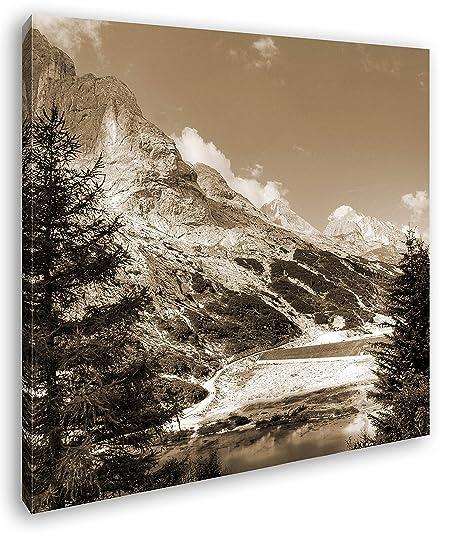 deyoli Montañas en Tirol del Sur Efecto: Sepia como Lienzo ...