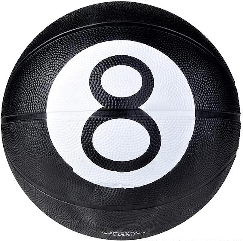 Negro 8 Ball diseño Reglamento tamaño baloncesto: Amazon.es ...