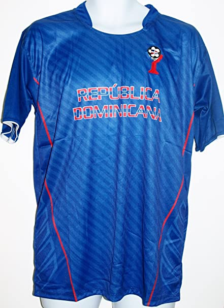 DOMINICAN REPUBLIC SOCCER JERSEY T-SHIRT BLUE M MEDIUM FOOTBALL FIFA CAMISETA REMERA FÚTBOL REPÚBLICA
