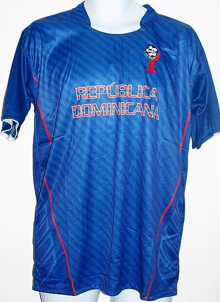 DOMINICAN REPUBLIC SOCCER JERSEY T-SHIRT BLUE M MEDIUM FOOTBALL FIFA CAMISETA REMERA FÚTBOL REPÚBLICA