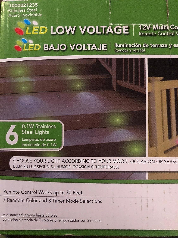 Paradise Stainless Steel Multi Color LED Deck Light Kit (6 ...