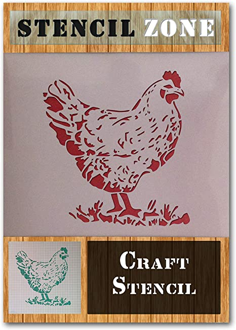 Shabby Chic Chicken Rustic Vintage Mylar Airbrush Painting Wall Crafts Stencil