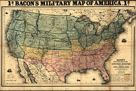 Amazon.com: 24x36 Poster; Civil War Map United States Of America