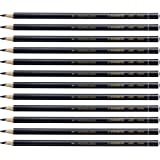 Stabilo 8406 All Coloured Pencil Crayons for Almost All Surfaces, 3.3 mm, Black, Pack of 12