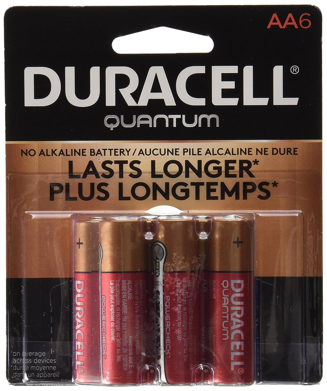 Duracell Quantum Alkaline AA Batteries, 6-Count 41333662244