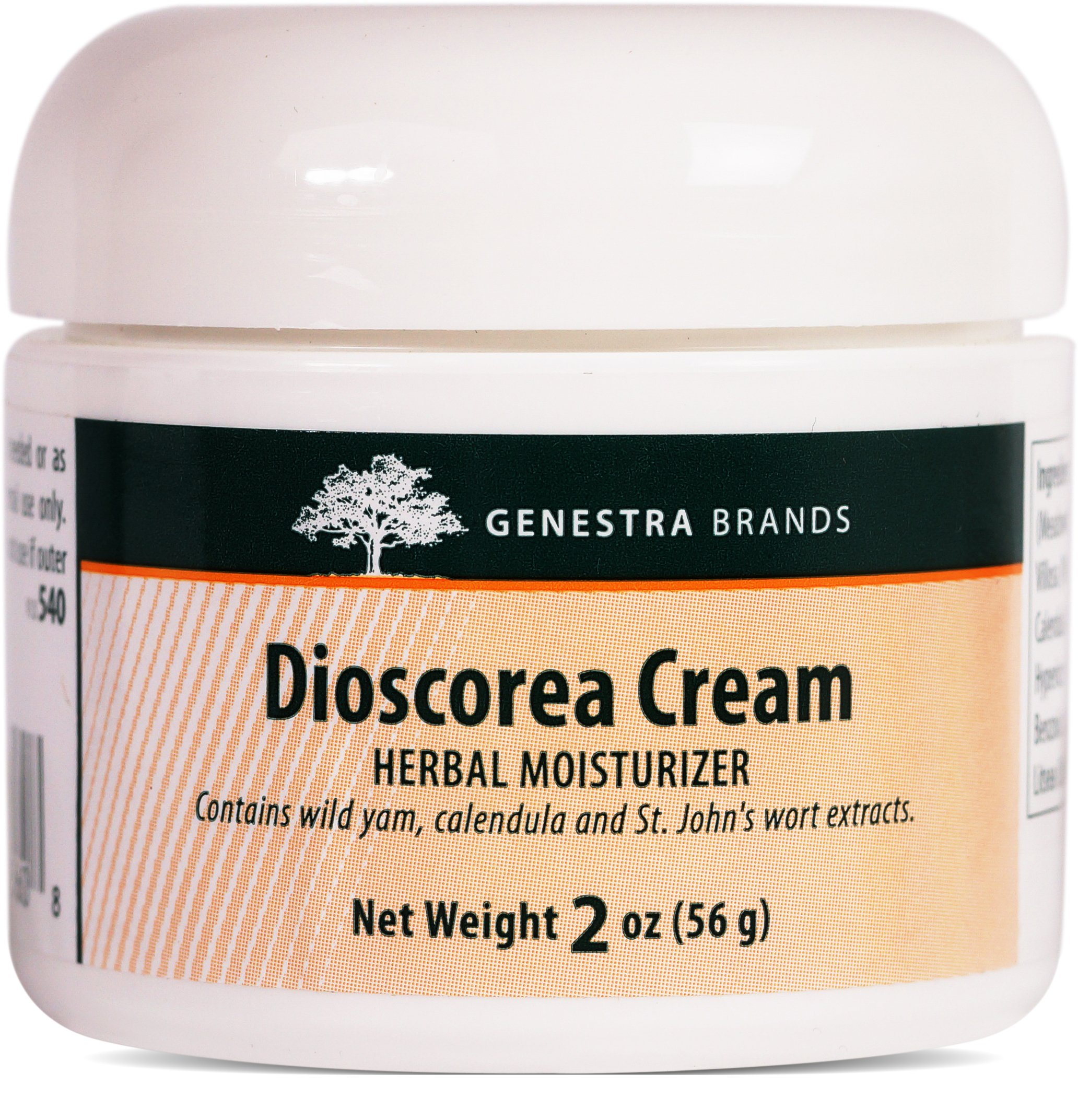 Genestra Brands - Dioscorea Cream - Herbal Moisturizer with Wild Yam, Calendula and St. John's Wort Extracts - 2 oz (56 g)
