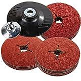 115mm Rubber Backing Pad for Angle Grinder & 30 Fibre Sanding Discs