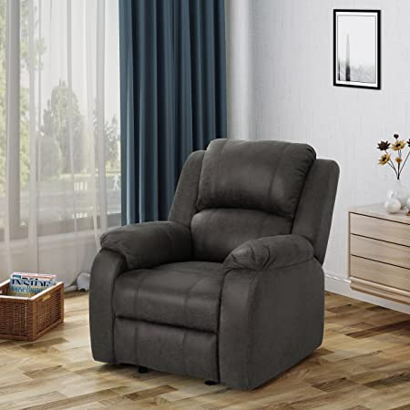 Christopher Knight Home 304386 Michelle Gliding Recliner, Slate Black